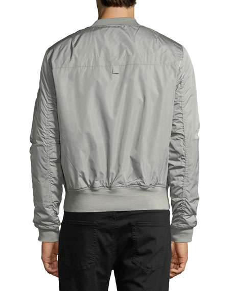 Mens' Suxy Nylon Zip-Front Bomber Jacket