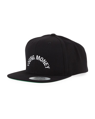 BB Logo Flat-Bill Hat, Black