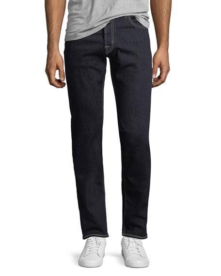 Jacob Cohen Straight-Leg Stretch-Denim Jeans with Contrast