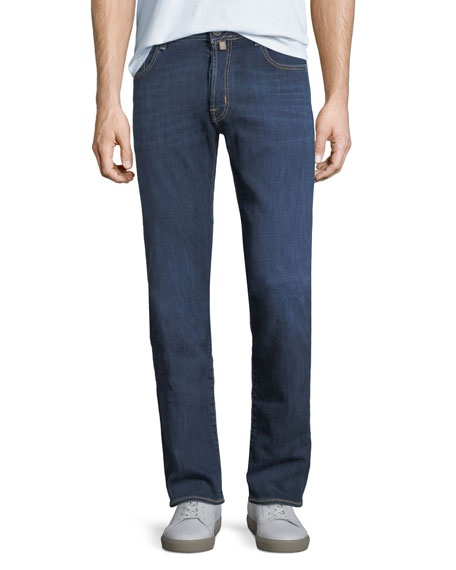 Jacob Cohen Washed Denim Straight-Leg Jeans