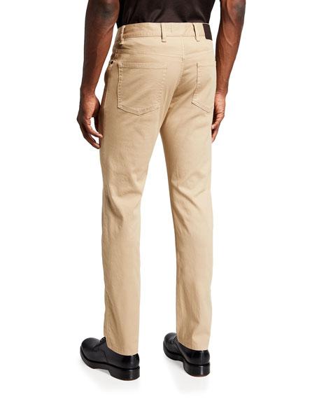 Men's Cotton Canvas Straight-Leg Pants