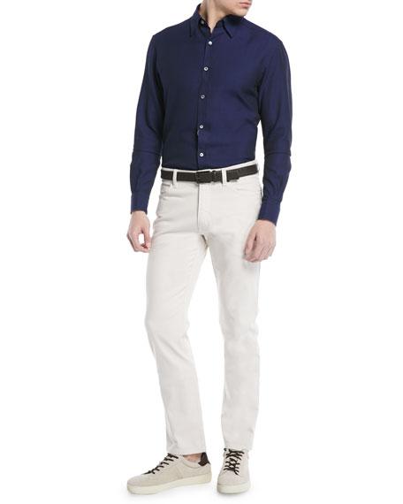 Cotton Canvas Chino Pants, White