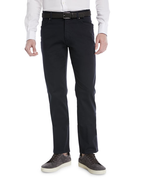 Ermenegildo Zegna Cotton Canvas Chino Pants, Navy