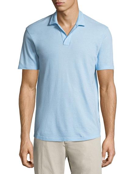 Felix Waffle-Knit Polo Shirt