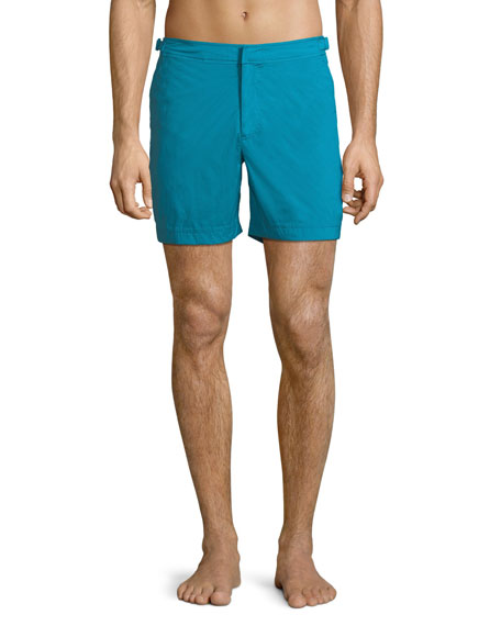 Orlebar Brown Bulldog Sport Shorts, Azure