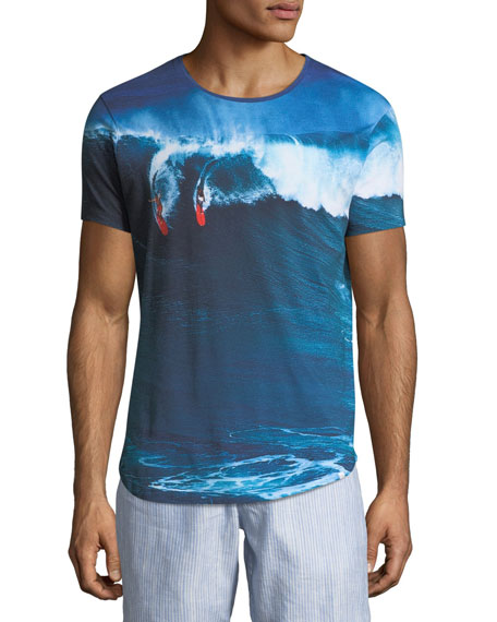 """Dropping In"" Photographic-Print T-Shirt"