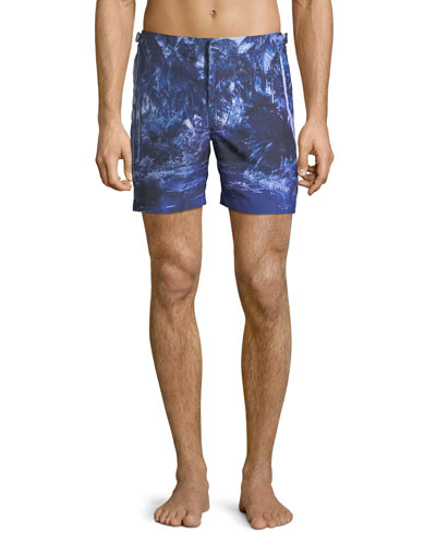 Bulldog Photographic Beach Swim Trunks