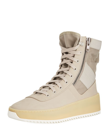 Fear of God Men's Leather High-Top Military Sneaker,