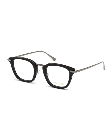 Square Acetate & Metal Glasses
