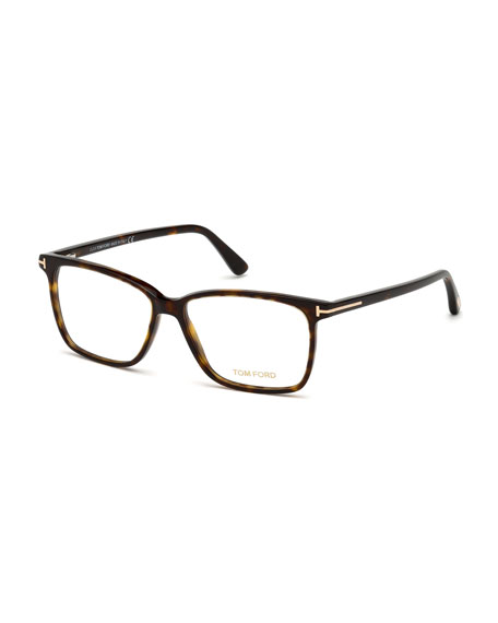 Square Acetate Optical Glasses, Brown
