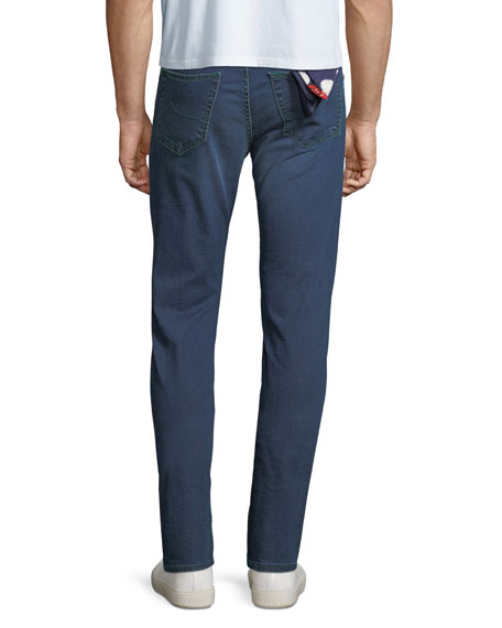 Men's Lightweight Mid-Wash Straight-Leg Jeans