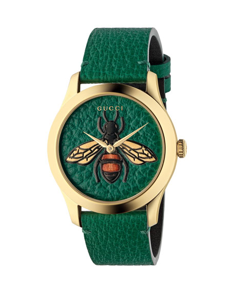 Gucci Bee Leather Watch
