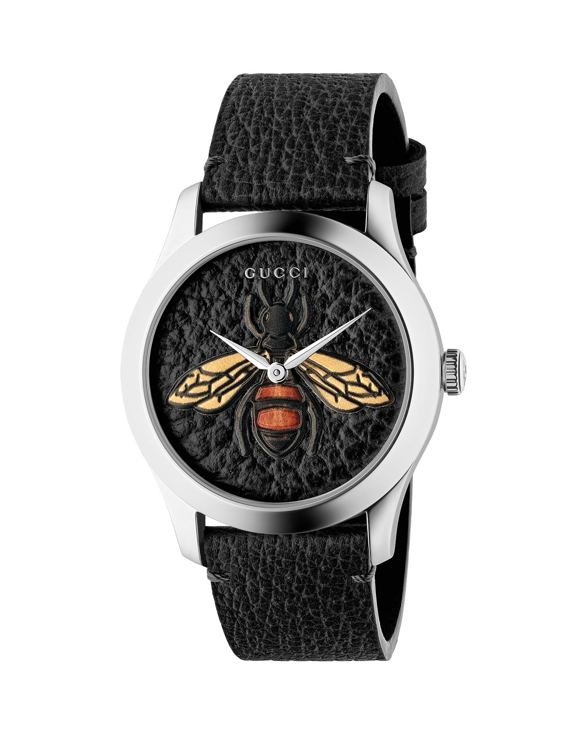 b75dc4c15e8 Gucci Bee Leather Watch