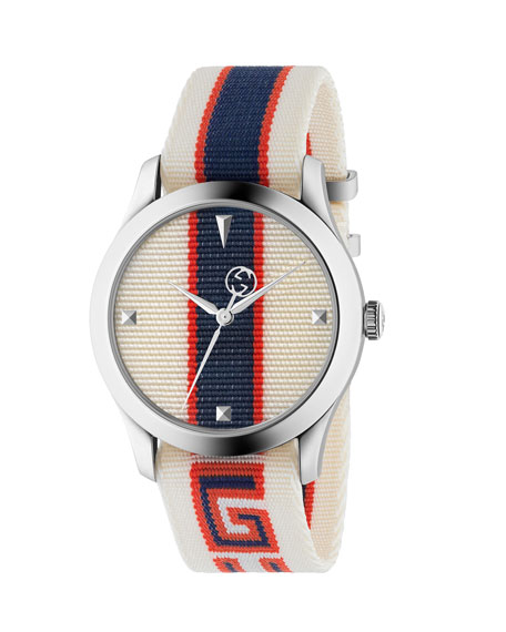 Nylon Web Stainless Steel Watch