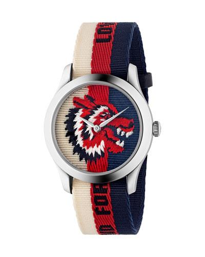 Wolf-Head Nylon Web Watch