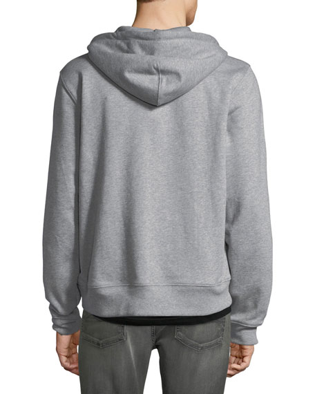Men's Heathered Zip-Front Hoodie