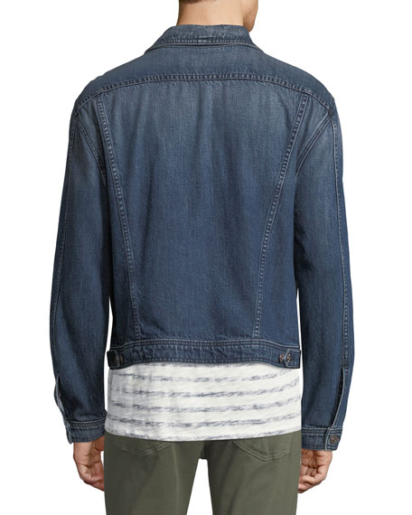 Men's Inside-Out Denim Trucker Jacket