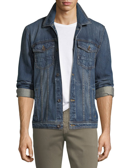 7 For All Mankind Men's Cotton Denim Trucker