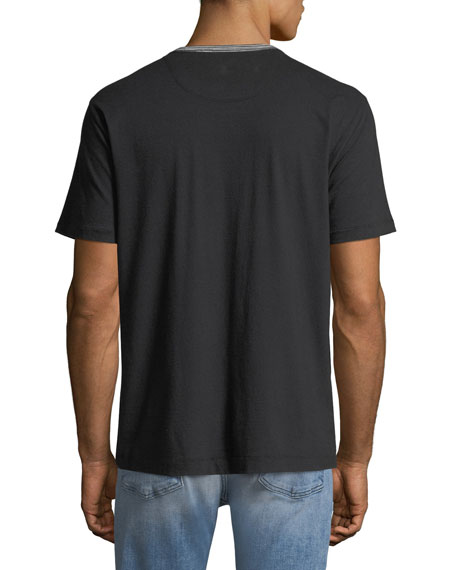 Men's Striped-Trim Ringer T-Shirt