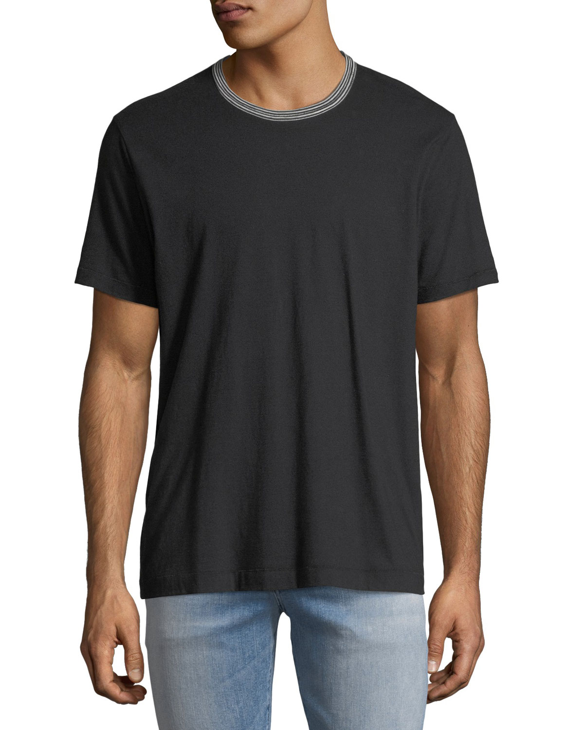 83ee55344f 7 for all mankind Men's Striped-Trim Ringer T-Shirt | Neiman Marcus
