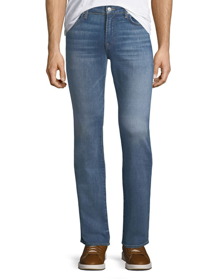 7 for all mankind Men's Slimmy Slim/Straight-Leg Jeans,