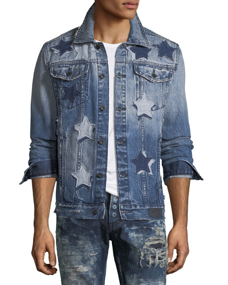 Star Patched Denim Jacket