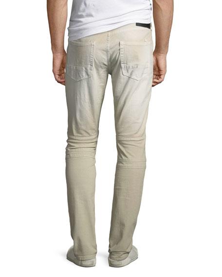 Cotton Twill Moto Pants