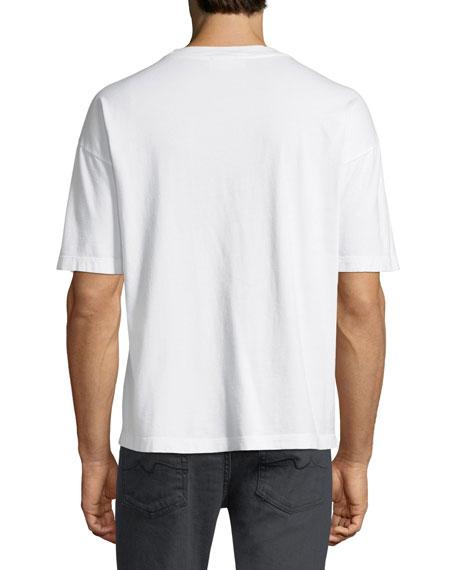 Men's Typographic Oversized T-Shirt