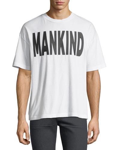 Men's Typographic Oversized T-Shirt