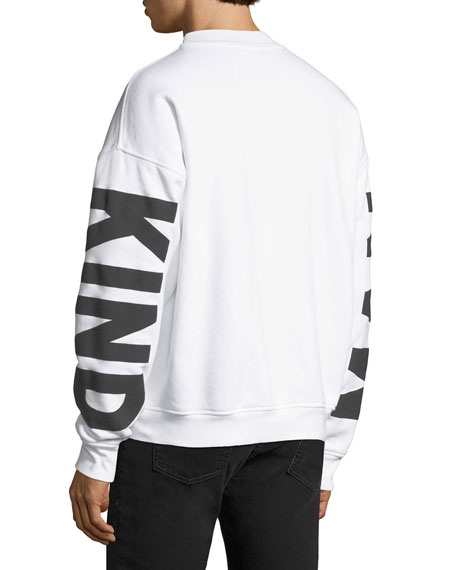 Men's Puff-Print Crewneck Sweatshirt