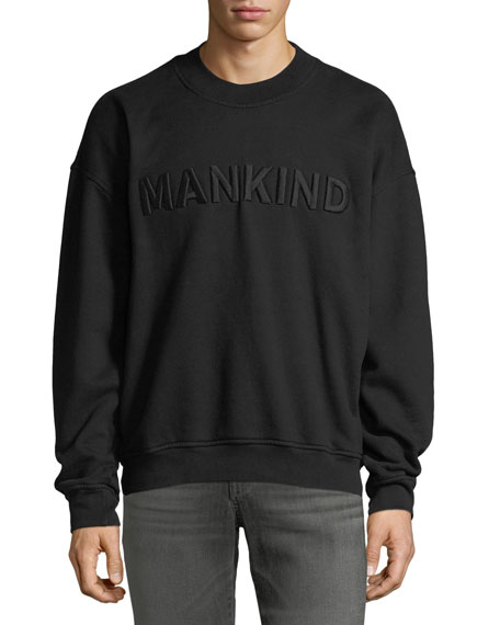 7 For All Mankind Men's Typographic Embroidered Sweatshirt,