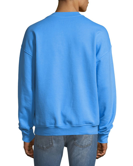 Men's Embossed Crewneck Sweatshirt