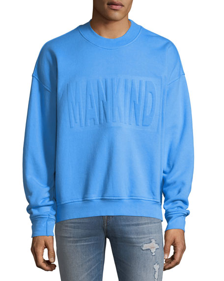 7 For All Mankind Men's Embossed Crewneck Sweatshirt