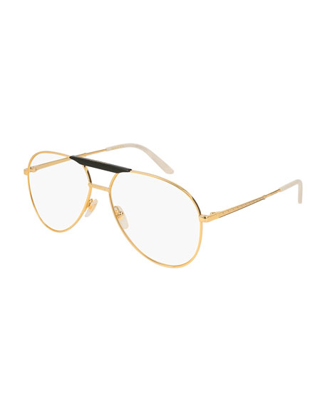 Gucci Aviator Optical Glasses, Gold