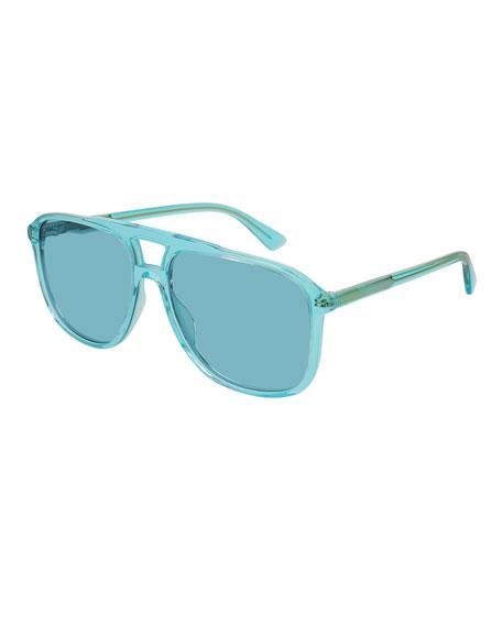Square Aviator Acetate Sunglasses