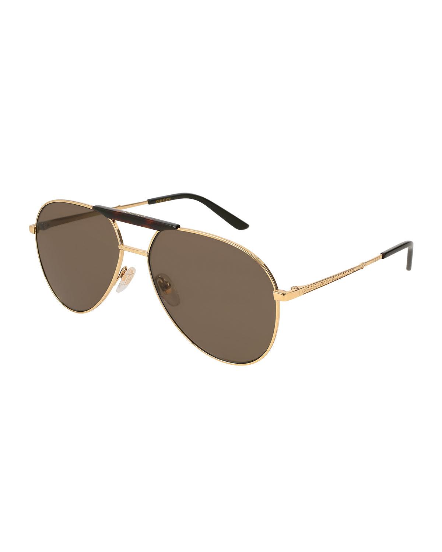 30547da025 Gucci Men s Aviator Sunglasses