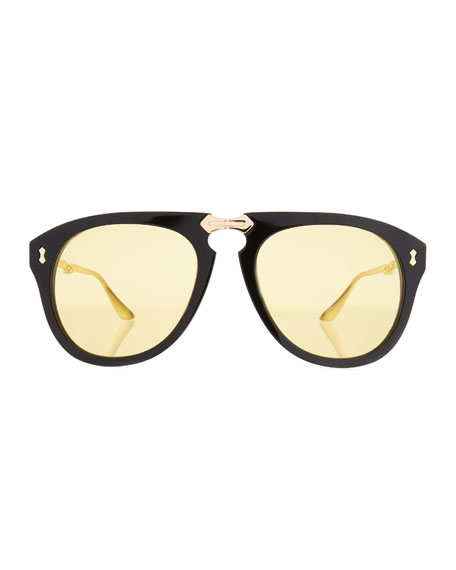 Men's Foldable Acetate Sunglasses