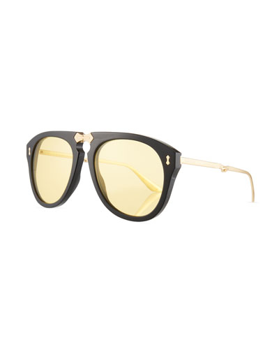 Men's Foldable Acetate Sunglasses
