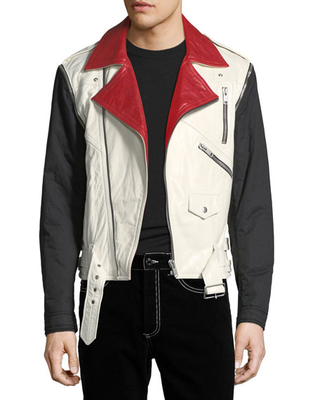 Givenchy Detachable-Sleeve Leather Moto Jacket