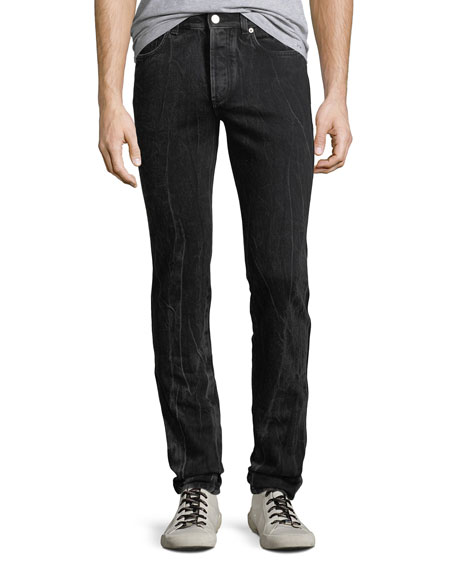 Givenchy Men's Contrast-Topstitching Straight-Leg Trousers