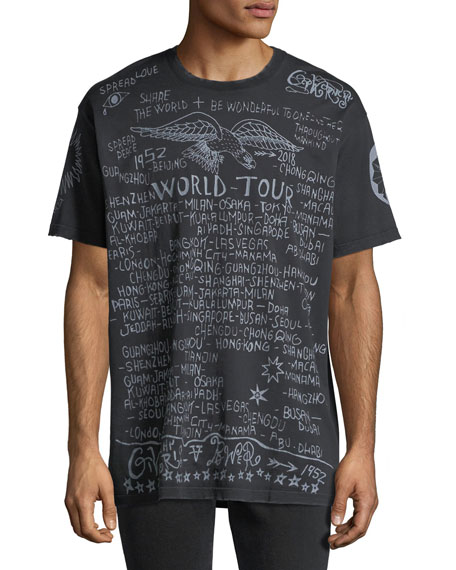 Givenchy World Tour Graphic Logo T-Shirt