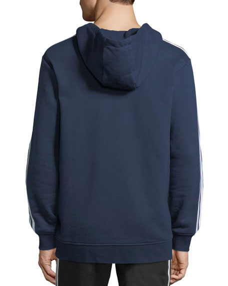 Zip-Front Hooded Track Jacket, Navy