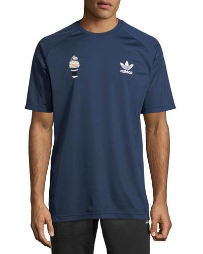 Ice Cream Football Raglan-Sleeve T-Shirt