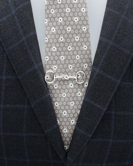 3D Horsebit Tie Clip
