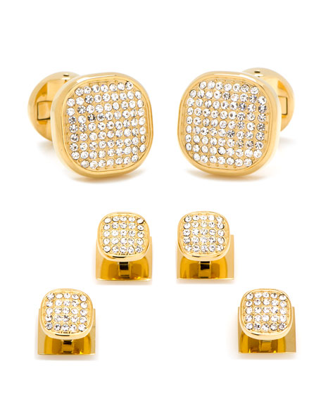 Cufflinks Inc. White Preciosa Pave Cuff Links &