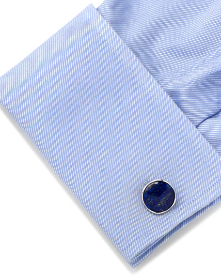 Lapis Sterling Silver Cuff Links