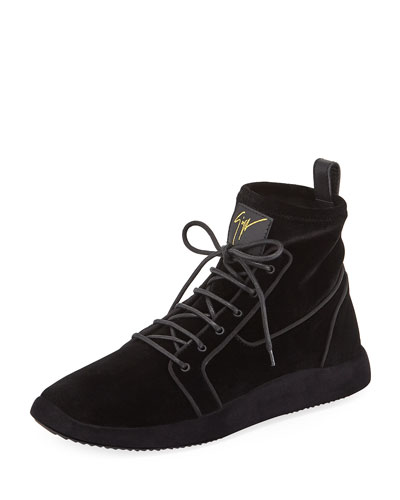 Men's Land High-Top Velvet Sneakers