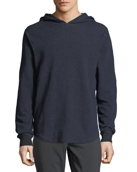 Rise Heathered-Knit Hoodie