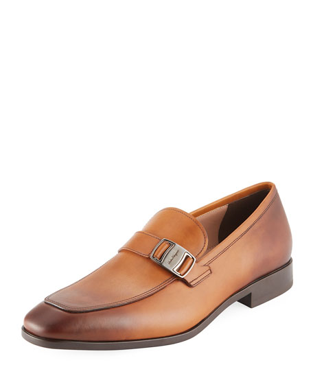 Salvatore Ferragamo Men's Benson Burnished Leather Loafer