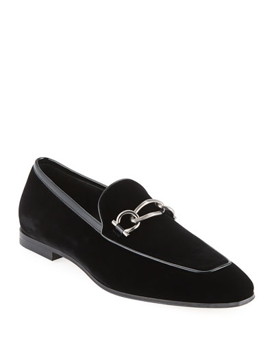 Boy 2 Chain Detail Velvet Loafer